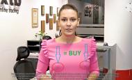 Nový trading indikátor Moniky Holzknechtové.  Stojící bradavky = BUY.